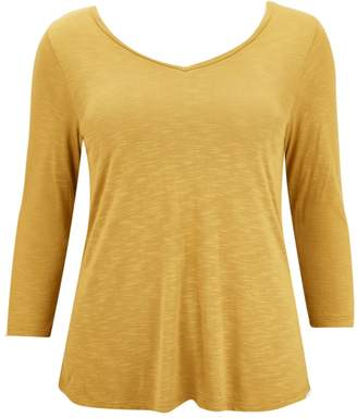 Evans Yellow V-Neck Top