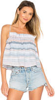 Mara Hoffman Gathered Cami in Blue. - size M (also in S)