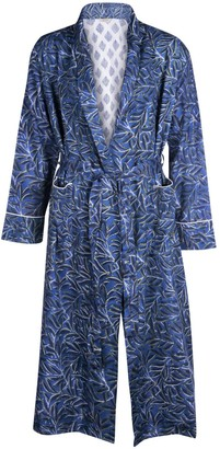 Blue Leaf Dressing Gown