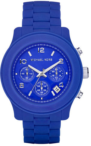 Michael Kors Silicone Watch, Blue