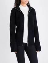 Moncler Oversized wool and cashmere-blend cardigan