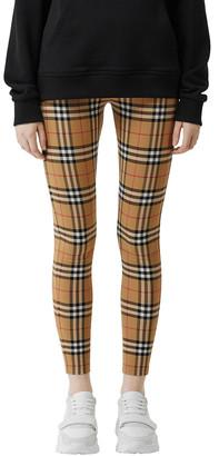 "Burberry ""Belvoir"" Vintage-Check Leggings"
