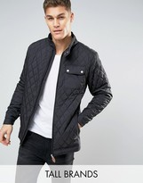 Jacamo Tall Quilted Jacket In Black