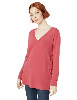 BB Dakota Women's Laced up for What Hacci Tunic with lace-up Sides