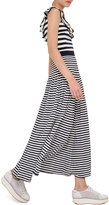 Akris Punto Striped Maxi Skirt, Navy/Cream