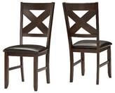 Inspire Q DeWitt Side Dining Chair Wood/Dark Brown (Set of 2)