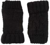 Forever 21 FOREVER 21+ Ribbed Knit Fingerless Gloves
