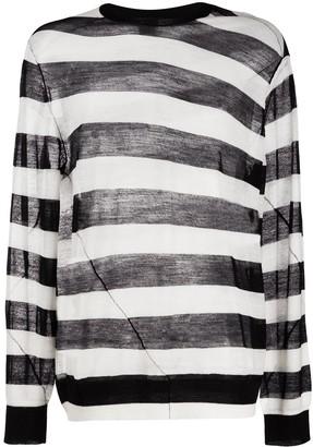 Ann Demeulemeester Seam-Detail Striped Jumper
