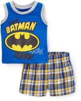 Children's Apparel Network Batman Blue Tank & Shorts - Infant