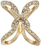 GUESS Pave Open Crisscross Ring