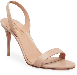 Aquazzura So Nude 85mm Napa Leather Sandals