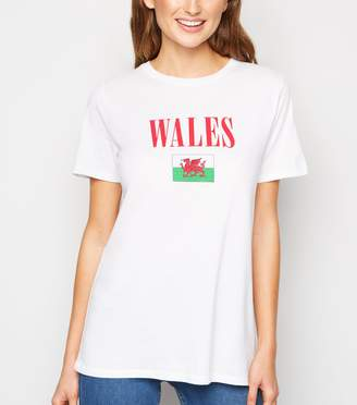 New Look Wales Flag Rugby Slogan T-Shirt