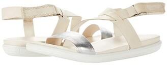 Ecco Simpil Strappy Sandal (Alusilver/Limestone) Women's Shoes