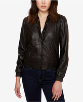 Lucky Brand Leather Bomber Jacket