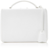 Mark Cross Small White Pebbled Leather Bag