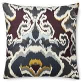 Williams-Sonoma Williams Sonoma Jahari Ikat Printed Silk Pillow Cover, Grey