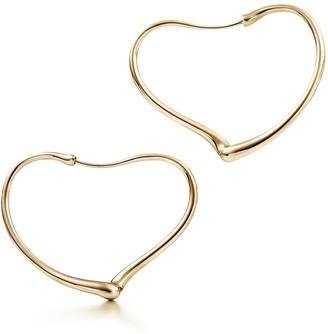 Tiffany & Co. Elsa Peretti Open Heart hoop earrings in 18k gold, small