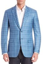 Canali Teal Window Sportscoat
