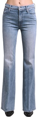 Mother Doozy Flared High Rise Cotton Jeans