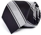 Theory Contrast Stripe Skinny Tie
