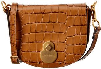 Longchamp Cavalcade Small Croc-Embossed Leather Crossbody