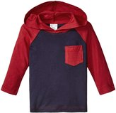 City Threads Hooded Raglan w/Pocket (Baby) - Gray/Navy - 18-24 Months