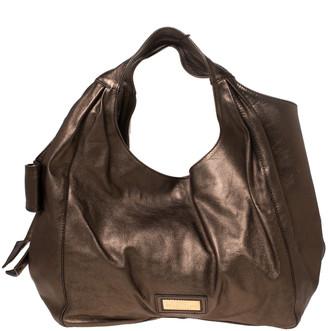 Valentino Metallic Gold Leather Nuage Bow Tote
