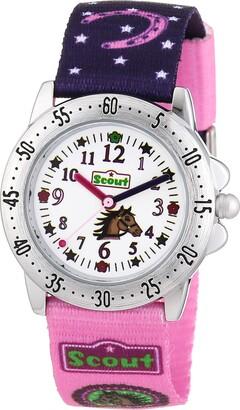 Scout Girls' Analogue Quartz Watch with Textile Strap 280378065