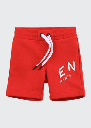 Givenchy Boy's Abstract Logo-Print Drawstring Shorts, Size 12M-3