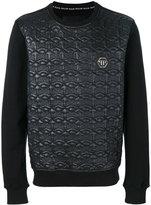 Philipp Plein quilted skull sweatshirt - men - Cotton/Polyester/Polyurethane - S