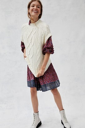 Maeve Cybil Cable-Knit Sweater Vest