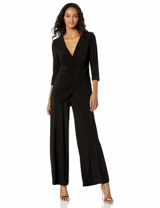 Adrianna Papell Women's Jersey Long Sleeve Jumpsuit