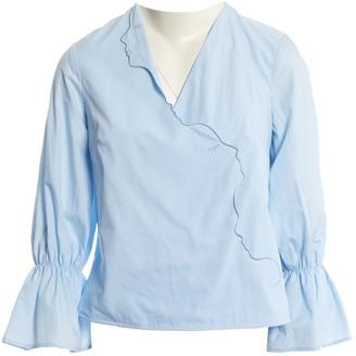 VIVETTA Blue Cotton Top for Women