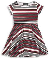 Un Deux Trois Girl's Stripe Fit & Flare Dress