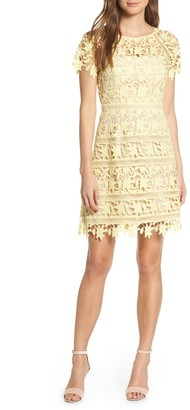 Brinker & Eliza Open Lace Dress (Regular & Petite)
