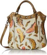 Anuschka Handpainted Leather Convertible Tote, Hobo Bag, I