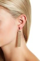Vince Camuto Black Pave Marquise Hoop Earrings