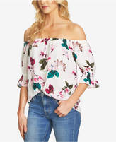 1 STATE 1.STATE Floral-Print Off-The-Shoulder Top