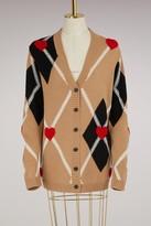 MSGM Wool jacquard Cardigan
