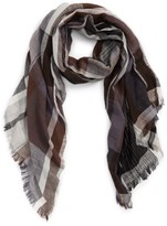 David & Young Women's Oblong Plaid Scarf