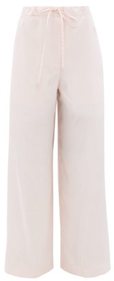 Jil Sander Satin Pyjama Trousers - Womens - Light Pink