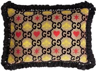 Gucci GG jacquard rectangle cushion