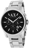 Giorgio Armani Exchange AX2084 Men's Classic Silver Stainless Steel Chronograph Watch