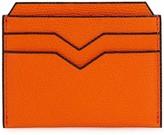 Valextra 4cc Blue Pebbled Leather Card Holder