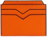 Valextra 4cc Charcoal Pebbled Leather Card Holder