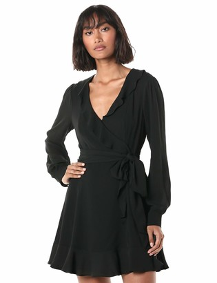 Parker Women's Cadance Ruffled Wrap Mini Dress