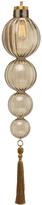 Heathfield & Co Medina Pendant Lamp 4 Ball Smoke Antique Brass