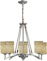 Dale Tiffany Springdale By Springdale 25In 5-Light Palisades Mosaic Art Glass Chandelier