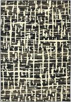 Karastan Panache Grasscloth Black Rug (96 X 1211)
