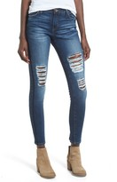 Band of Gypsies Women's Lola Ripped Skinny Jeans